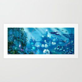 Deep Below Art Print