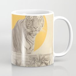 Giant Tiger in Ruins and Palms Coffee Mug