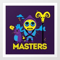 skeletor Art Prints featuring SKELETOR by Maioriz Home