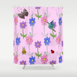 Pink Nature Shower Curtain