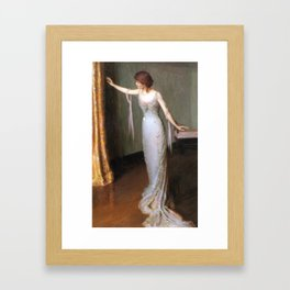 Lilla Cabot Perry, 1911 - Lady in an Evening Dress Framed Art Print