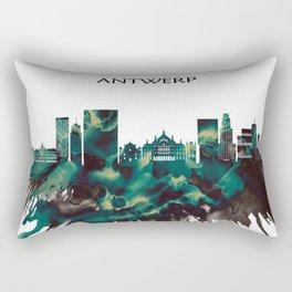 Antwerp Skyline Rectangular Pillow