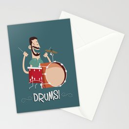 Drums! Stationery Cards