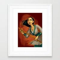 mulan Framed Art Prints featuring MULAN by Kaja Reinki