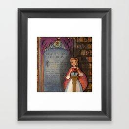Beauty & the Beast Book Art Illustration Framed Art Print