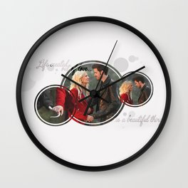 Life created out of love is a beautiful thing Wall Clock