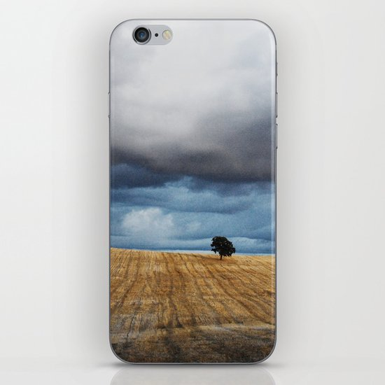 Lonely tree waiting for the storm iPhone & iPod Skin