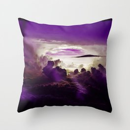 I Want To Believe - Purple Throw Pillow