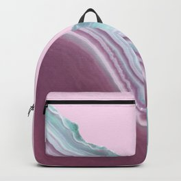 Geode Pink + Turquoise Backpack