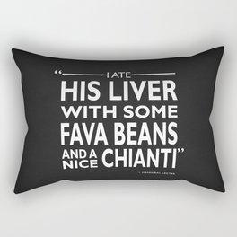 I Ate His Liver Rectangular Pillow
