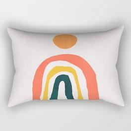 Sunrise over rainbow hill Rectangular Pillow