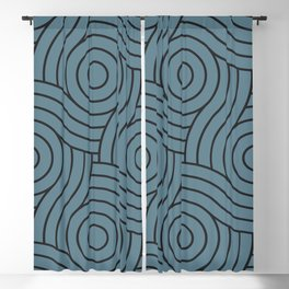 Circle Swirl Pattern Inspired by Behr Color of the Year 2019 Blueprint Blue S470-5 Blackout Curtain