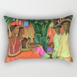 Dance in Tehuantepec by Diego Rivera Rectangular Pillow