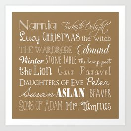 Narnia Celebration - Tortilla Art Print