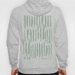 Vertical Dash Stripes Pastel Cactus Green on White Hoody