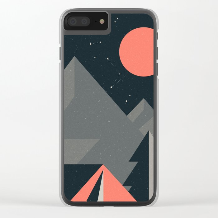 Retro Camping Clear iPhone Case