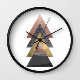 Valley, Scandinavian Modern Abstract Wall Clock