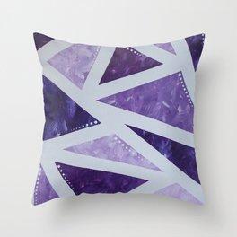 Purple Mosaic Throw Pillow