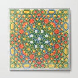 8-Fold Alhambra Pattern Metal Print