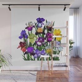 Iris garden Wall Mural
