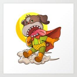 Super Dog No.1 Art Print