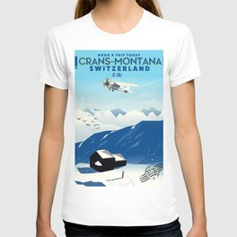 crans-montana Switzerland. T-shirt