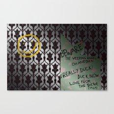 221 Beware Canvas Print