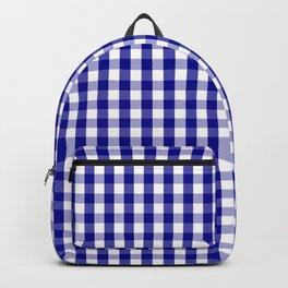 Large Australian Flag Blue and White Gingham Check Backpack