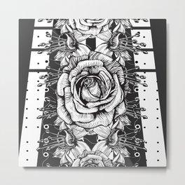 Flower Symmetry - Roses Metal Print