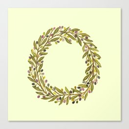Leafy Letter O Canvas Print
