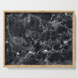 Black marble texture Serving Tray