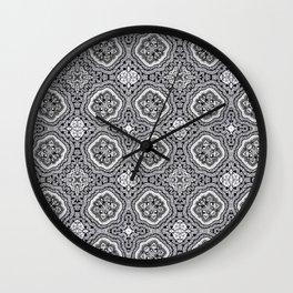 Doodle Pattern 4 Wall Clock