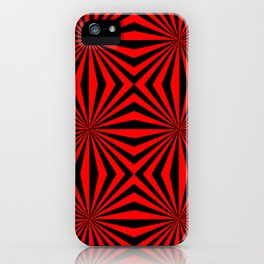 Red Black Dizzy Abstract Pattern iPhone Case