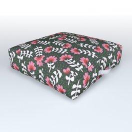 Camelita Retro Folk Flower Outdoor Floor Cushion