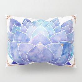 Violet Zen Lotus Pillow Sham