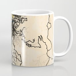 Medellin Yellow City Map Coffee Mug