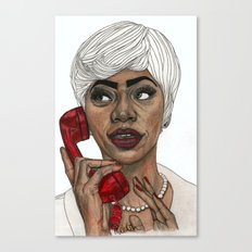 Girl with the Red Telephone Canvas Print
