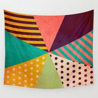umbrella Wall Tapestries featuring Umbrella by Louise Machado