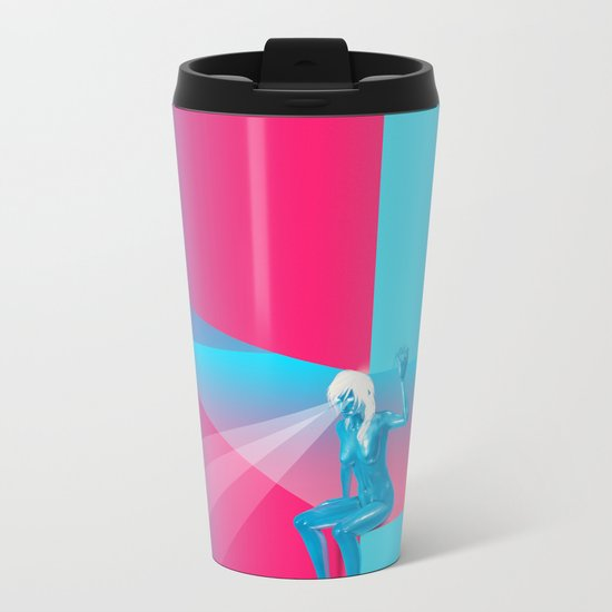 Goddess Gaze - G Zine for Society6 Metal Travel Mug