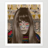 jane davenport Art Prints featuring JANE by Kris Tate