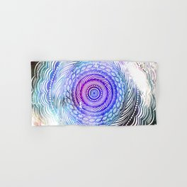 Modern Mandala Spiral Galaxy Space Textured Multi Colored / Purple Pink Orange Gray Black Hand & Bath Towel