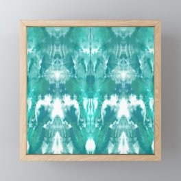 Aqua Blue Lagoon Framed Mini Art Print
