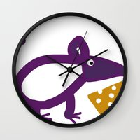 cheese Wall Clocks featuring Cheese? by Stephanie Cole CREATIONS