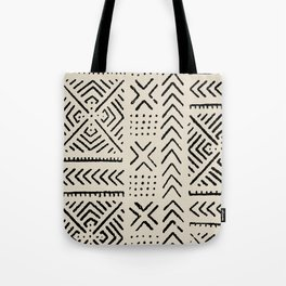 Line Mud Cloth // Bone Tote Bag