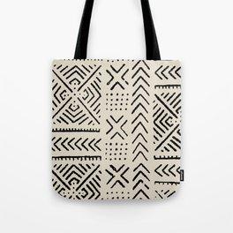 Line Mud Cloth // Bone Tote Bag