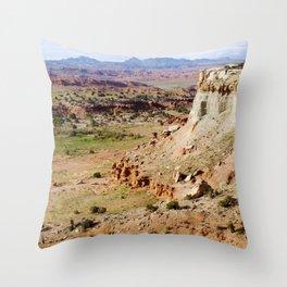 Painted Desert Valley Throw Pillow