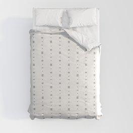 Dots & Dashes - Minimalist Line Pattern - White Comforters