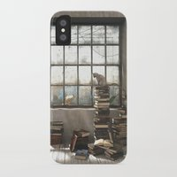 introvert iPhone & iPod Cases featuring The Introvert by Cynthia Decker