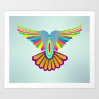 Wings Let's Fly! Art Print