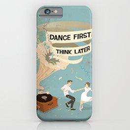 Gramophone couple swing dance iPhone Case